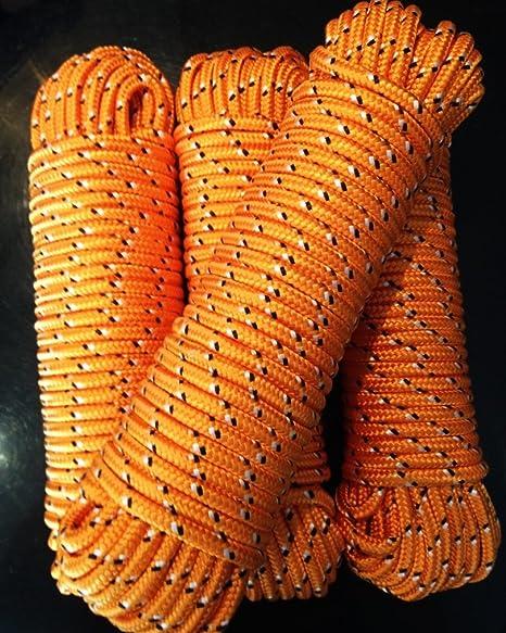 Rot Nr.3 Polypropylen Tauwerk 10 mm,30 m Kordel,Tau,Schot,Ersatzseil,Schnur