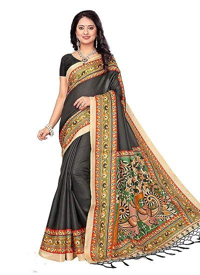6771c0da00 Grey Color Bhagalpuri Silk Saree: Amazon.in: Clothing & Accessories