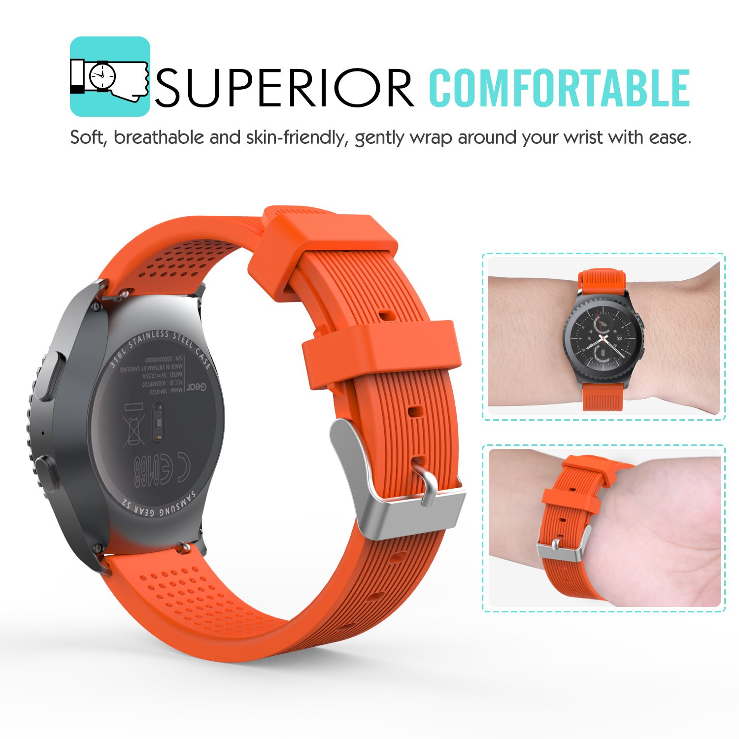MoKo Reloj Correa Compatible con Samsung GGalaxy Watch 42mm/Galaxy ...