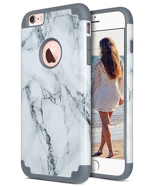 16 opinioni per Cover iPhone 6s Plus, ULAK Cover per iPhone 6 Plus Marmo Custodia Stampato
