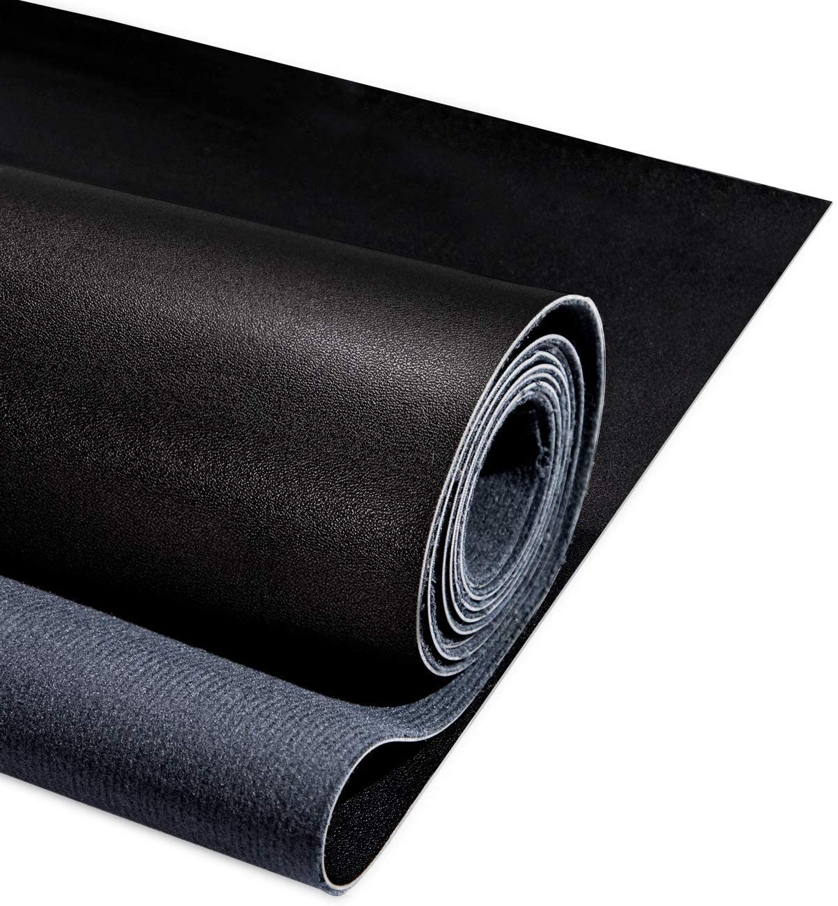 """PU Fabric Leather 2 Yards 54"""" x 72"""", 1.25mm Thick Faux Synthetic Leather Material Sheets for Upholstery Crafts, DIY Sewings, Sofa, Handbag, Hair Bows Decorations, Black"""