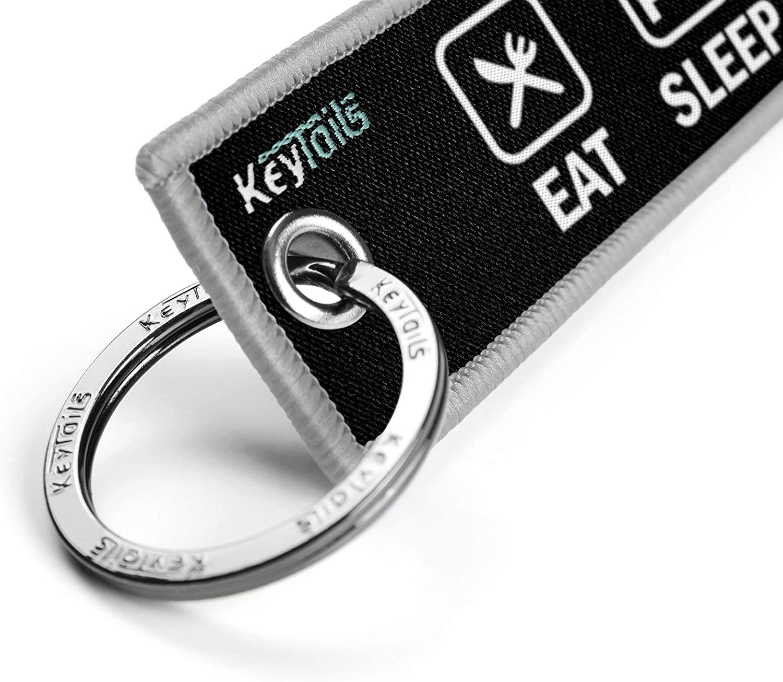 Eat Sleep Ride Repeat Premium Quality Key Tag for Motorcycle ATV Car UTV Scooter KEYTAILS Keychains