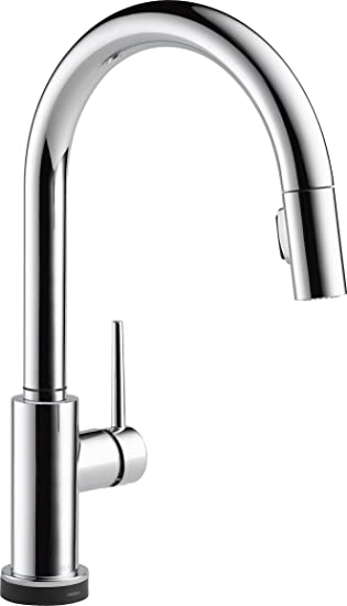 Delta Faucet Trinsic Single Handle Touch Kitchen Sink Faucet With Pull Down Sprayer Touch2o Technology And Magnetic Docking Spray Head Chrome 9159t Dst Touch On Kitchen Sink Faucets Amazon Com