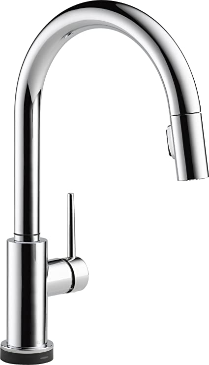 Delta Faucet Trinsic Single-Handle Touch Kitchen Sink Faucet with Pull Down  Sprayer, Touch2O Technology and Magnetic Docking Spray Head, Chrome ...