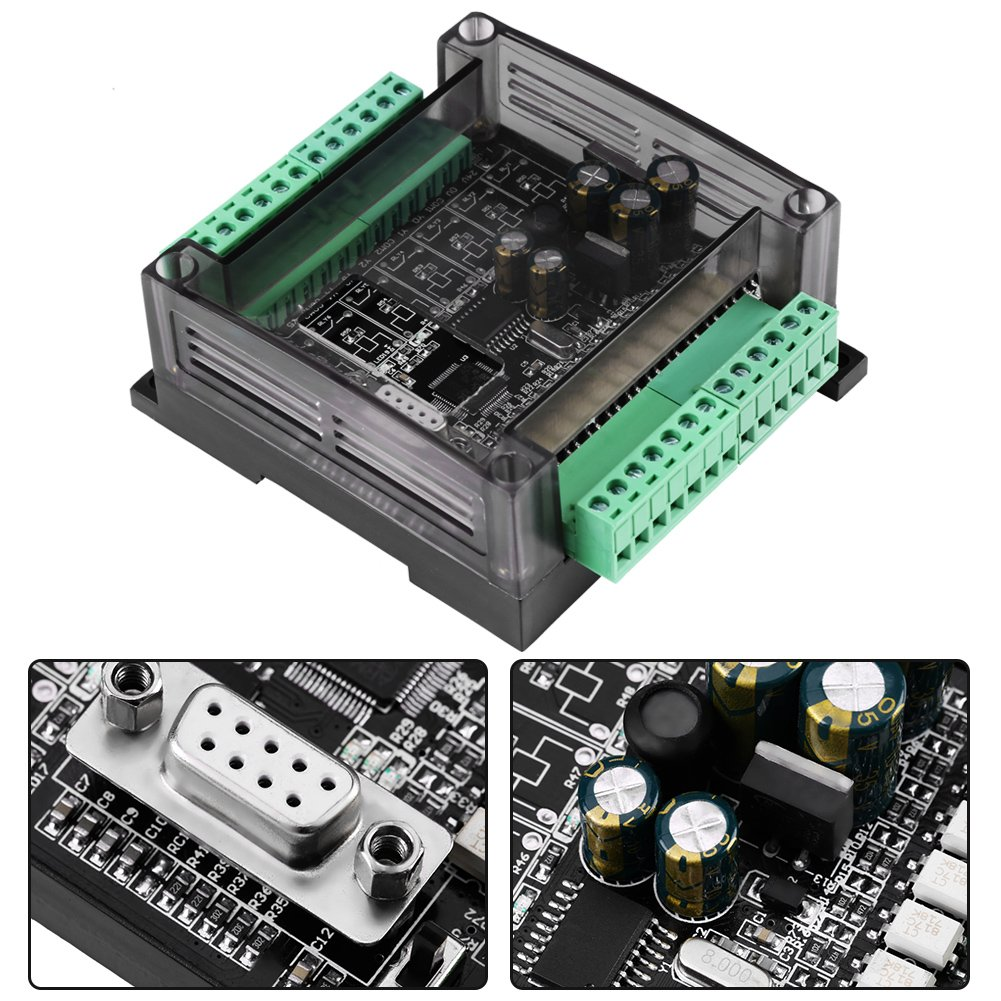 PLC Controller Regler DC 24V Industrie Steuerplatine Speicher Programmierbare Steuerung mit Geh/äuse