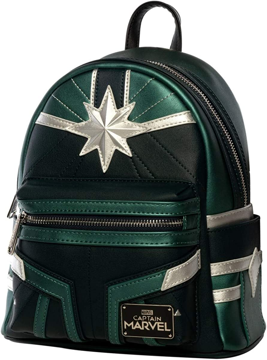 Loungefly x Captain Marvel Green Training Suit Mini Backpack