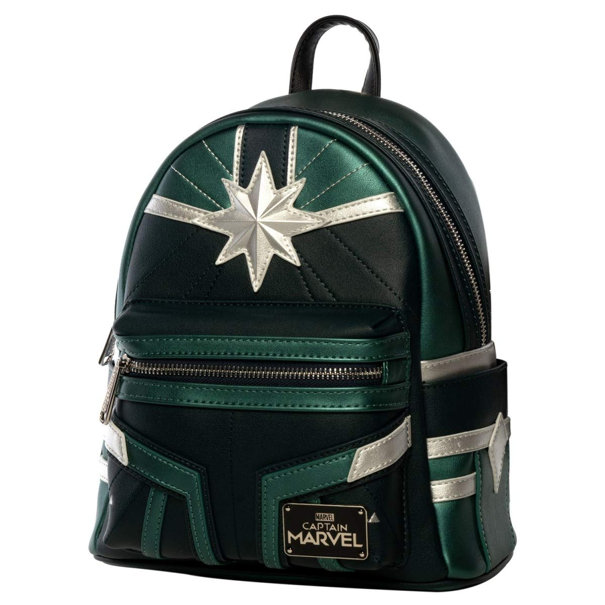 8b9afb5b516 Amazon.com  Loungefly x Captain Marvel Green Training Suit Mini Backpack  (One Size