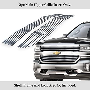 HX New Chrome Grille Overlay Snap On Insert Fits for 2016-2018 Chevy Silverado 1500