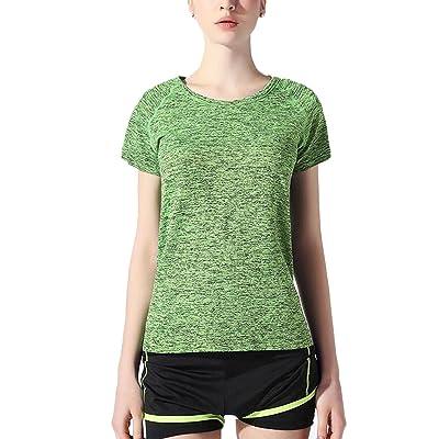 4URNEED Summer Women's T-Shirt Sport T-shirts Athletic-Shirts Yoga Workout Tops Short Sleeve