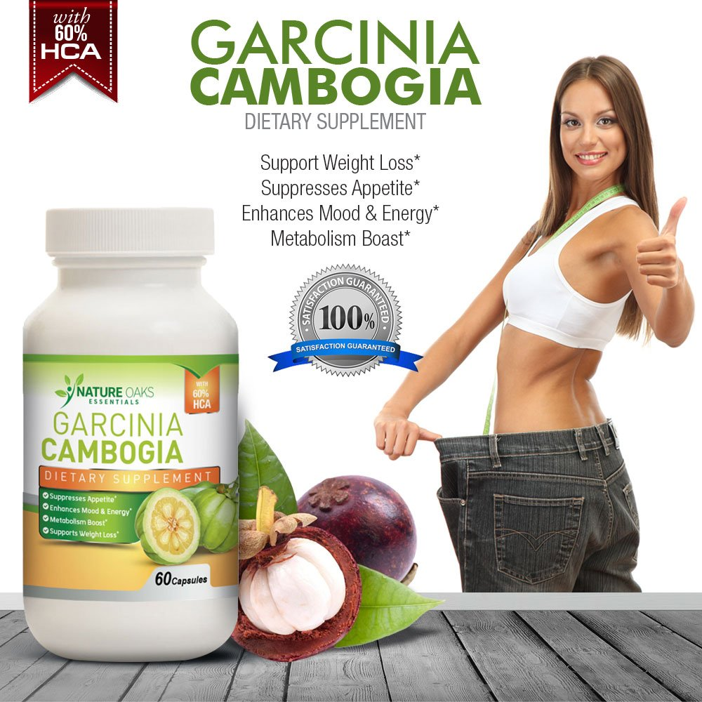 Pure Garcinia Cambogia Extract, Fat Burner - Appetite Suppressant and Fat Burner by Nature Oaks Essentials - Fat Blocker, 60 Capsule Count, 1000Mg Garcinia Cambogia Capsules by Nature Land Candles (Image #4)