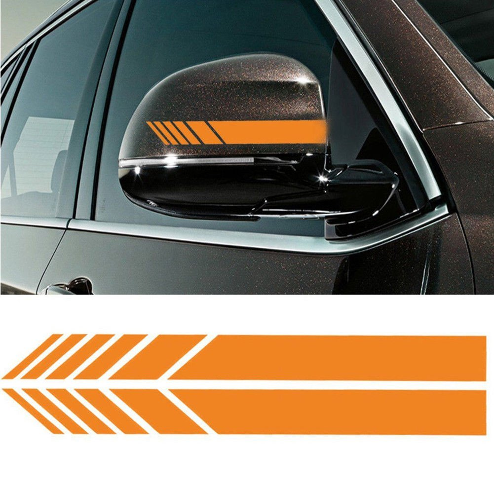 Od 2pcs car rear view mirror stickers decor diy car body sticker side decal stripe decals suv vinyl graphic orange decals bumper stickers amazon canada