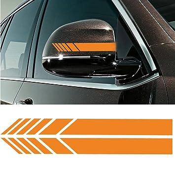 Od 2pcs car rear view mirror stickers decor diy car body sticker side decal