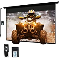 "120"" Motorized Projector Screen Electric Diagonal Automatic Projection 4:3 HD Movies Screen for Home Theater…"