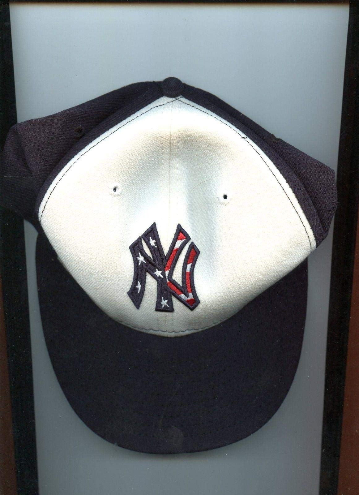 2011 Kevin Long NY Yankees Game Used July 4th Red/White/Blue Hat Steiner & MLB Game Used MLB Hats