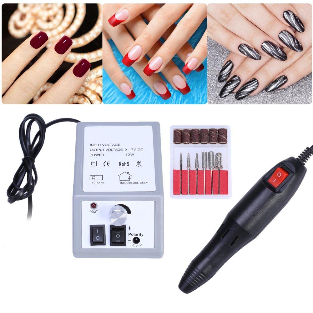 1 Set Nail Art Equipment Electric Manicure Drill Bits Tool Pedicure Machine Set
