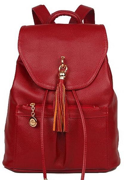 b44ef21f4 VogueZone009 Mujeres Hebilla Bolsas de mano Moda Casual Pu Bolsas de hombro,CCAYBP180944,Burdeos:  Amazon.es: Ropa y accesorios