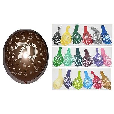 Lot 20 Ballons Métallique 70 ans Multicolore 36cm Decoration 519