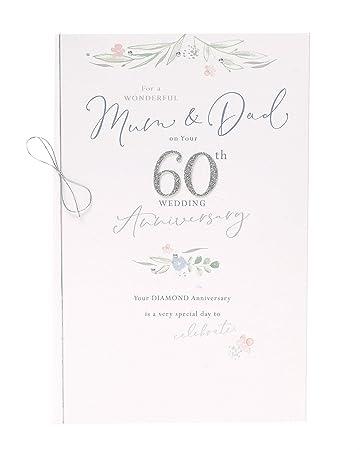 Amazon.com: Tarjeta de 60 aniversario para mamá y papá – 60 ...