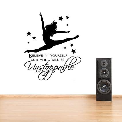 Vinyl Wall Art Sticker//Decal Gymnast Gymnastic,Girls Bedroom Quote