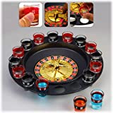 16 Lucky Shot Glass Spinning Roulette Drinking Game - Drunken Roulette