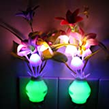Amazon Price History for:Taozi 2PCS Kids Night light Color Changing Flower Plug In LED Mushroom Nightlight Wall Lights (Cream)
