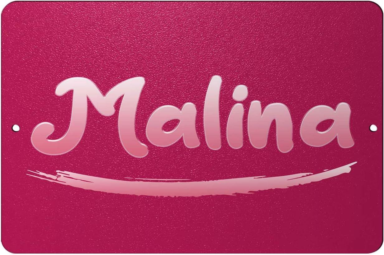 Makoroni - Malina Female Name 12x18 inc Aluminum Decorative Wall Street Sign 71FQ8A3FewL