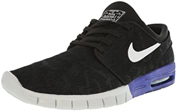 buy online 2e59b 793fc Nike Mens Stefan Janoski Max BlackWhiteDeep NightSneakers - 4 D(M. Roll  over image to zoom in