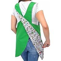 SuYa Shop BATA REVERSIBLE EDUCADORA Cole/Verde, maestra, infantil, babi, guardería, casaca