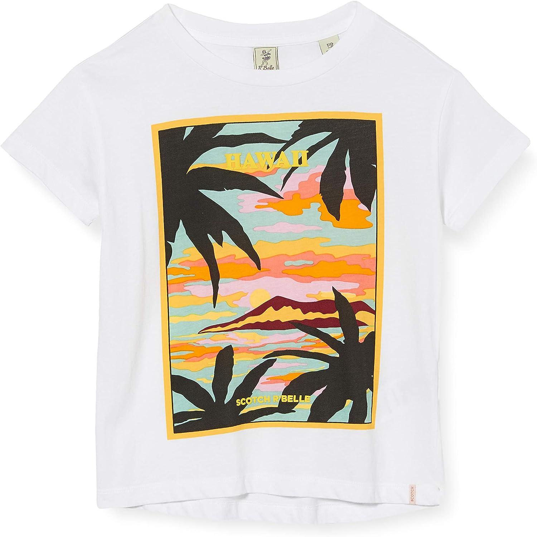Scotch /& Soda M/ädchen Hawaii-Artwork T-Shirt