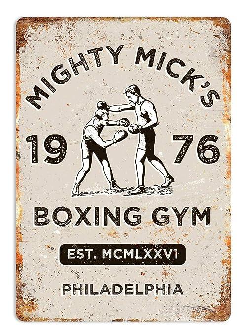 MiMiTee Micks Boxing Gym Cartel de Pared de Chapa Carteles de Advertencia de Metal Vintage Cartel de Arte de Hierro Cartel Colgante Jardín Regalo de ...