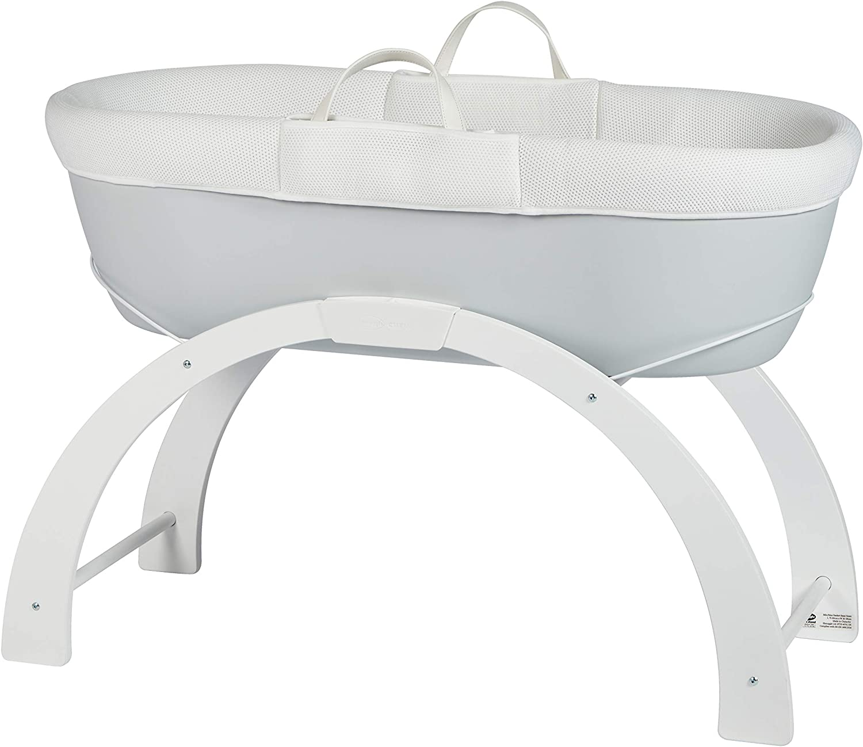 Shnuggle Dreami Baby Sleeper Moses Basket /& Stand Pebble Grey