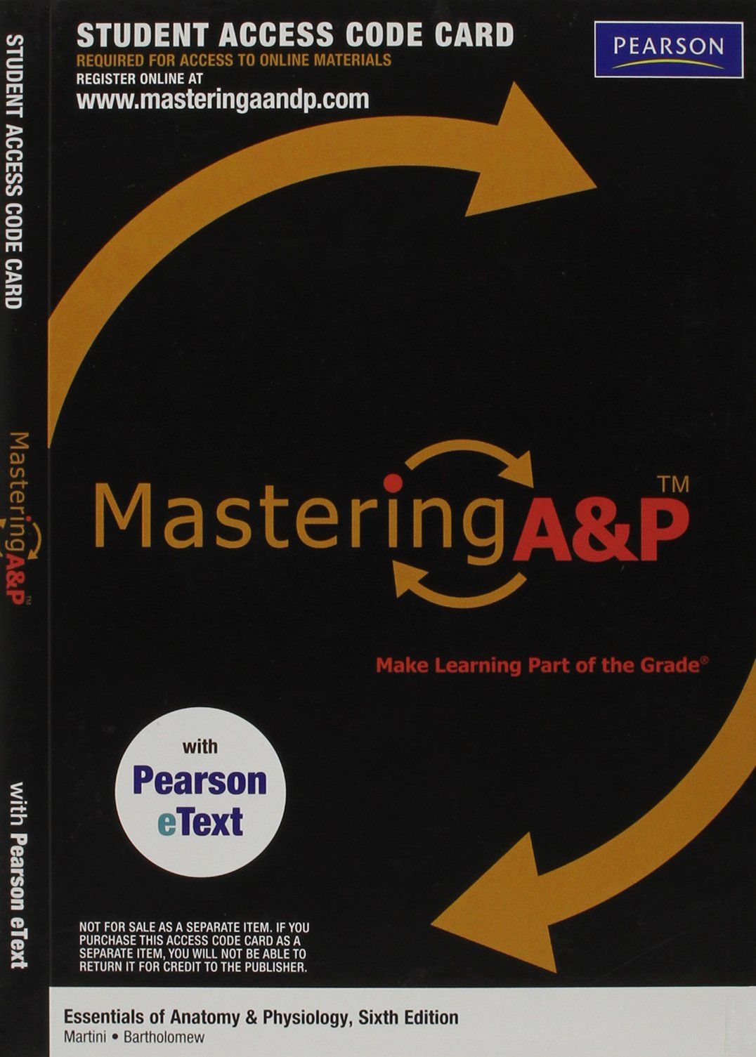 MasteringA&P with Pearson eText -- Valuepack Access Card -- for Essentials of Anatomy & Physiology (ME component) pdf