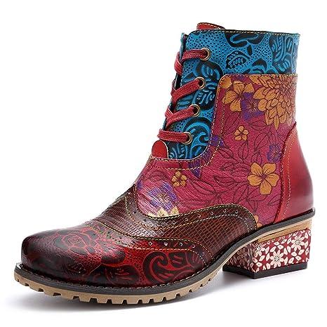 2018 Nuevos zapatos de mujer Primavera / otoño, botines de viento nacionales retro, botines