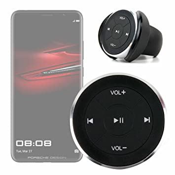 DURAGADGET Mando inalámbrico para Control Multimedia de su Smartphone Huawei P20, Huawei P20 Lite, ProHuawei Mate RS Porsche Design, Huawei P20 Pro.