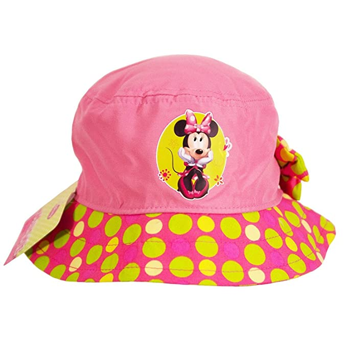 af4070ff4e4 Image Unavailable. Image not available for. Color  Minnie Mouse Disney  Polka Dot Little Girls Toddlers Bucket Hat