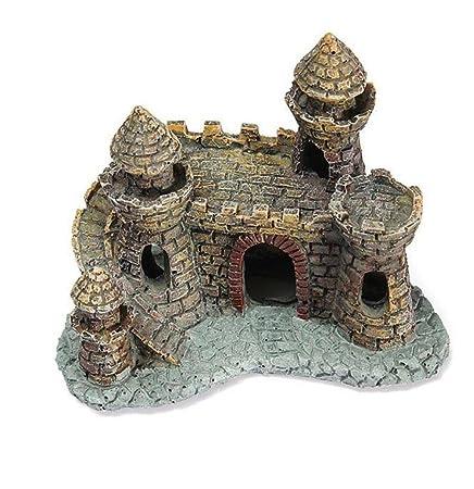 WYXIN Ornamento del tanque de peces de acuario Decoración de dibujos animados bajo el agua de la decoración del castillo de la torre del castillo (12 * 10 ...