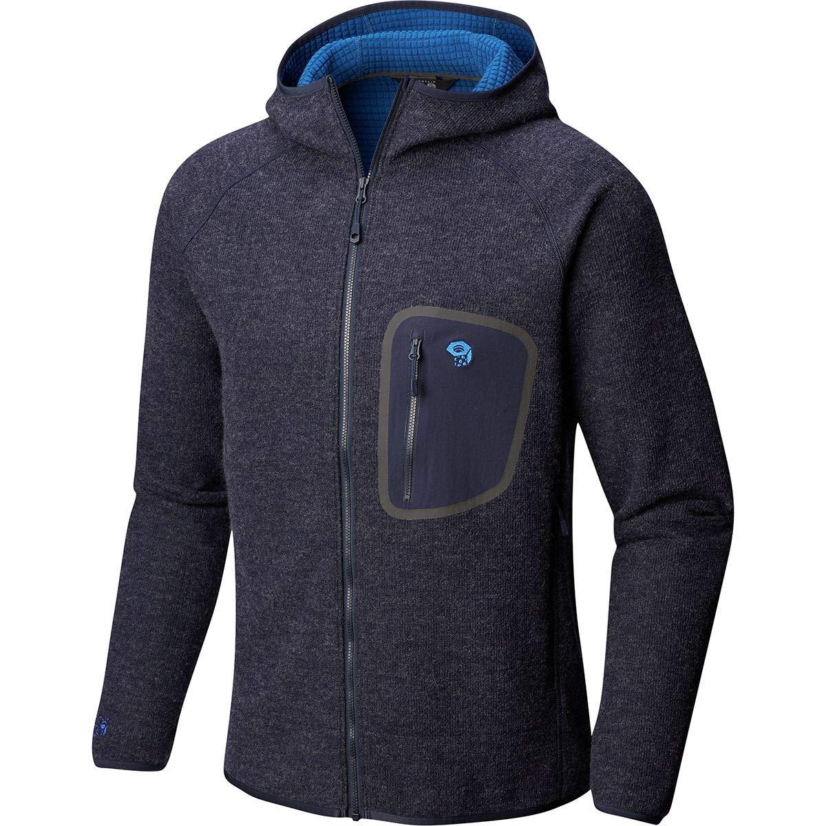 M Mountain Hardwear Hatcher Full-Zip Hooded Jacket Mens Dark Zinc