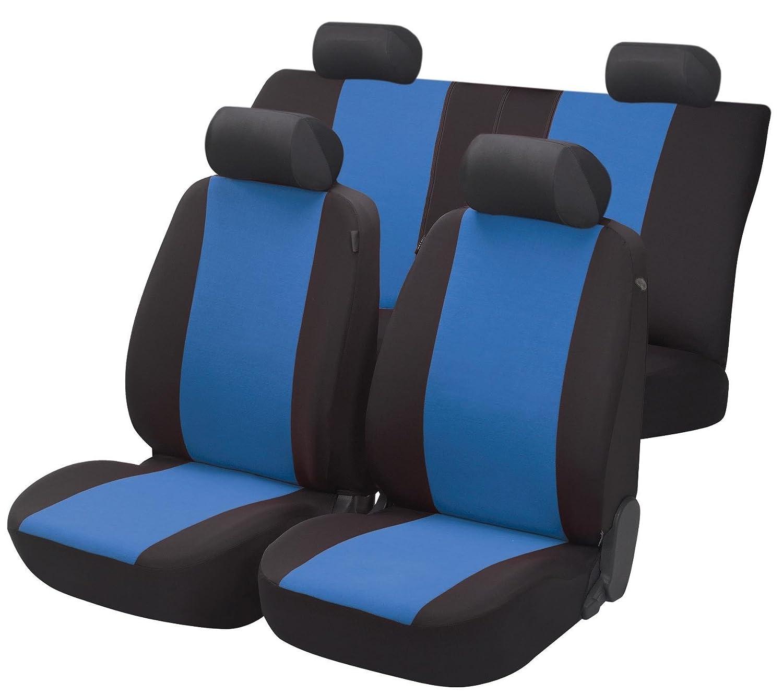 rmg-distribuzione Coprisedili Fodere R27 Nero Blu per 156 Copri sedili Auto Anteriori e Posteriori
