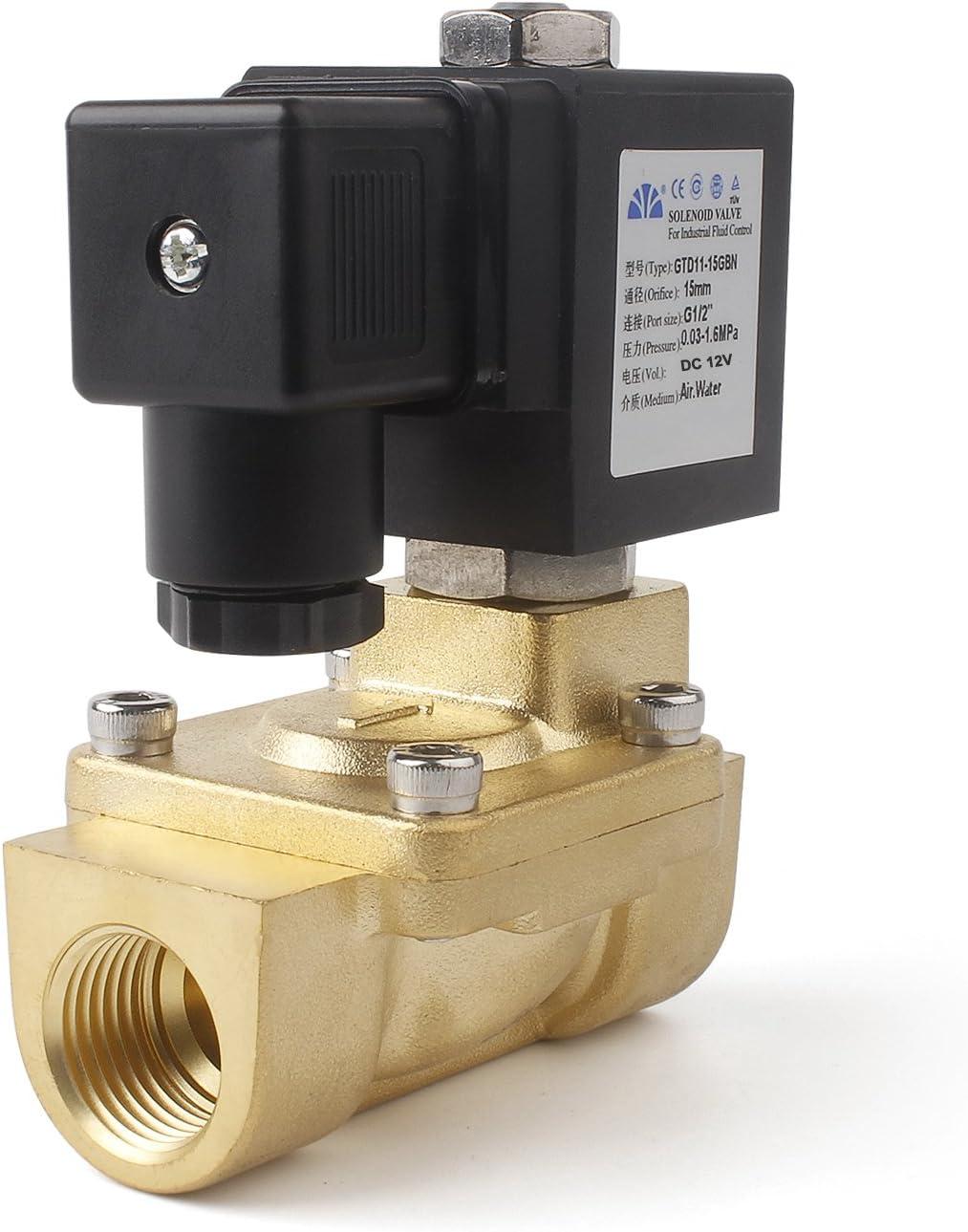 Messing Magnetventil Elektrisches Ventil Elektromagnetventil DC24V NC DN15 IP65