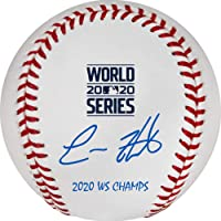 """$199 » Enrique Hernandez Los Angeles Dodgers 2020 MLB World Series Champions Autographed World Series Logo Baseball with""""20 WS Champs""""…"""