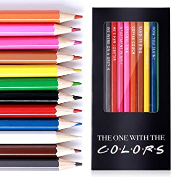The One With The Colors FRIENDS TV Show Inspired Parody Colored Pencils