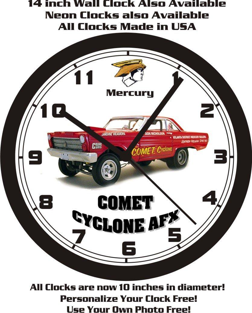 Amazon 1965 Mercury Comet Cyclone Afx Race Car Wall Clock Free