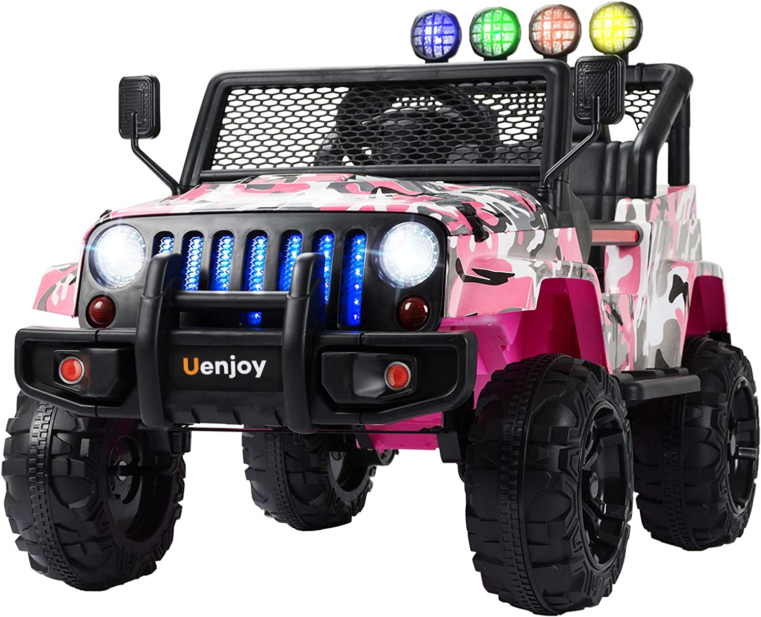 Uenjoy Kids Ride on Cars with Remote Control New Camouflage Color W/ Spring Suspension, Music