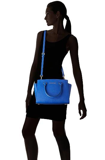 28083bd71514 ... clementine nwt 250 Boutique Michael Kors Selma Medium Satchel ELECTRIC  BLUE Handbags Ama ...