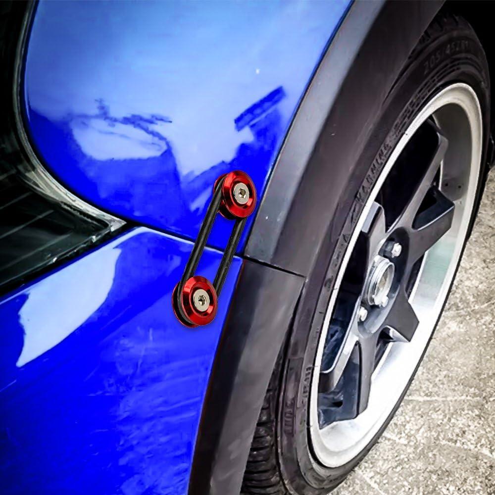 4 Pieces+4 O-Ring Red BlackZero JDM Bumper Quick Release Front Rear Bumper Fasteners