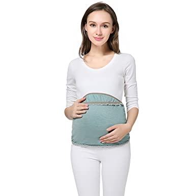 ec9941d73a549 JOYNCLEON Adjustable Maternity Anti-Radiation Belly Band for Pregnancy  (acid blue, Large)