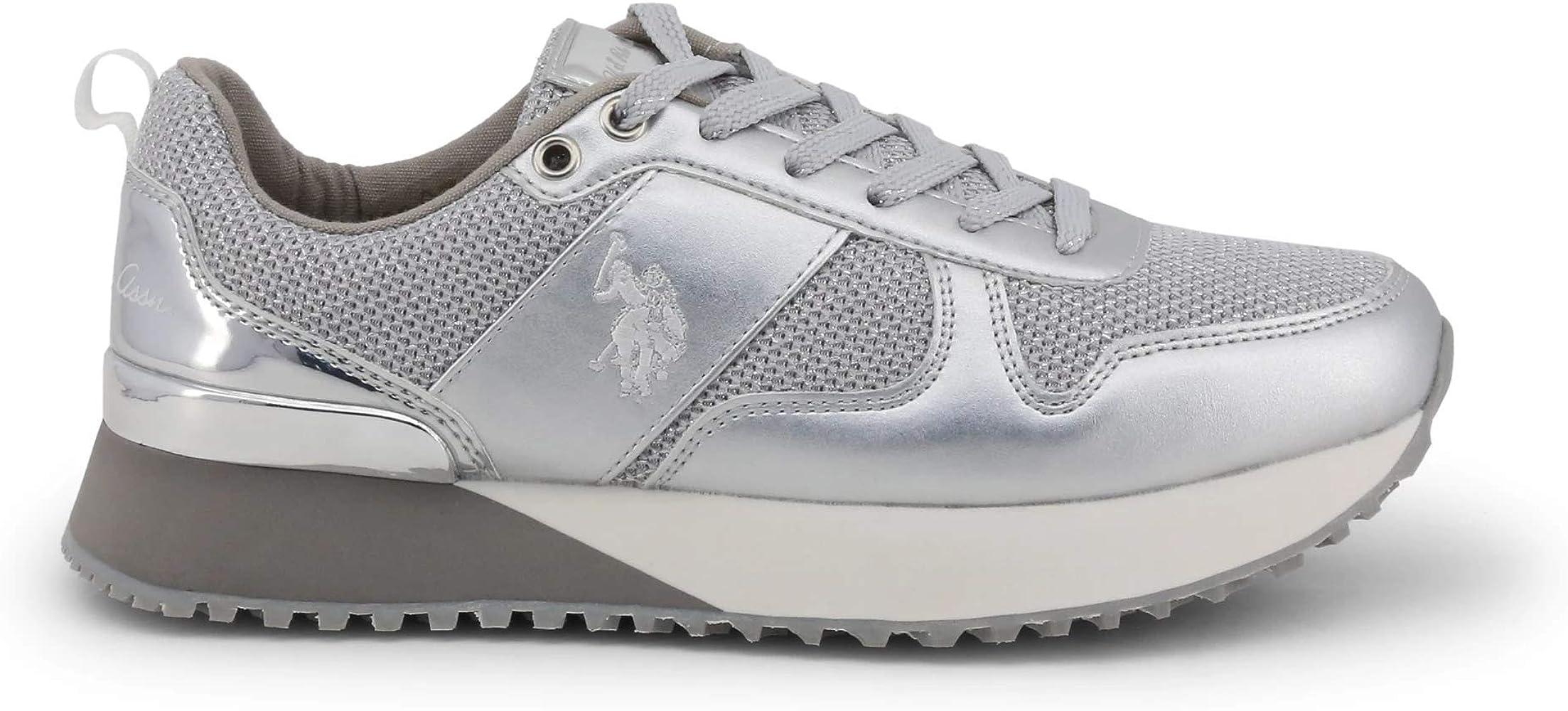 U.S. Polo Sneaker FRIDA4103W8_TY1 Mujer Color: Plateado Talla: 40 ...