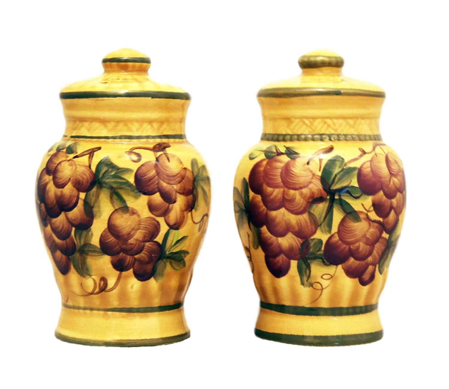 Tuscany Grape Salt and Pepper Shakers Set