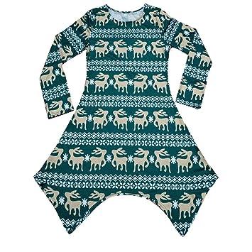 6ace83051 Amazon.com  FeliciaJuan Women Christmas Dress Long Sleeve Round Neck ...