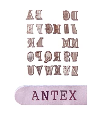 Antex R8Q0L030 Alphabet Pyrography Stamps